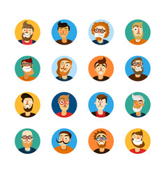 men userpic set vector image