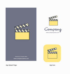 movie clip company logo app icon and splash page vector image