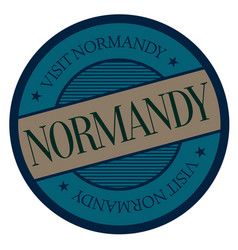 Normandy geographic stamp vector