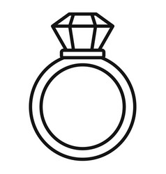 Notary gold ring icon outline style vector
