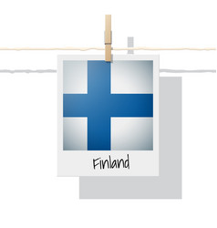 photo of finland flag vector image