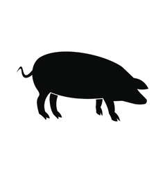 Pig icon black vector image