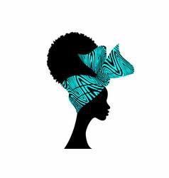 portrait african women bandana shenbolen ankara vector image