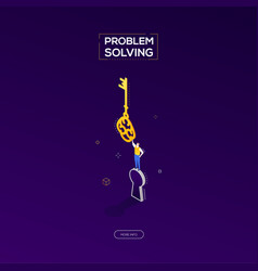 problem solving - modern isometric web vector image