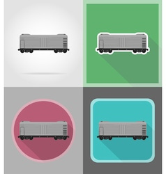 Railway transport flat icons 09 vector