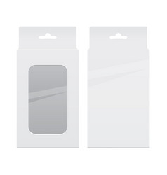 Realistic white package box set for software vector