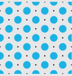 seamless pattern of blurred blue and black polka vector image