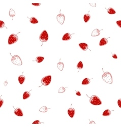 Seamless pattern of strawberries vector