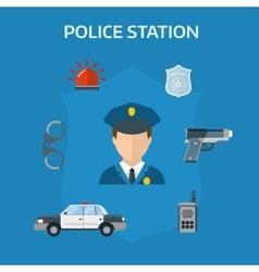 security elements police equipment symbols vector image