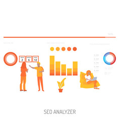 Seo analyzer conceptual design vector