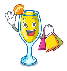 Shopping mimosa character cartoon style vector