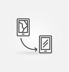 smartphone broken display replacement vector image