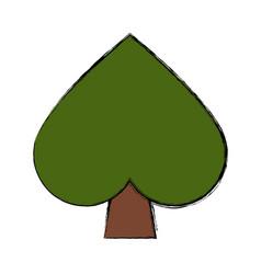 spade gambling symbol vector image