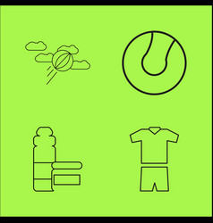 Sport and wellness linear outline icon set vector