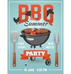 Summer bbq poster vector