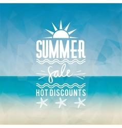 Summer sale label vector