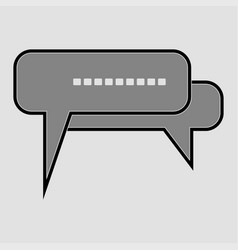 talk chat icon vector image