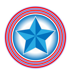 Us flag symbol logo star in circle icon vector