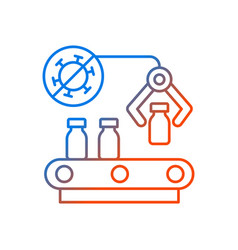 Vaccine manufacturer gradient linear icon vector