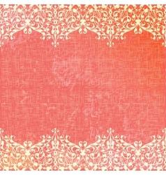 vintage beige and red floral background vector image