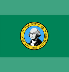 washington state flag vector image