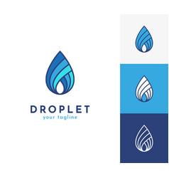 water drop logo icon symbol vector image
