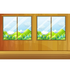 Windows made of glass vector