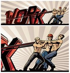 Worker cartoon vector image