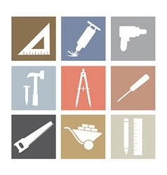 Working Tools Icons Set vector image