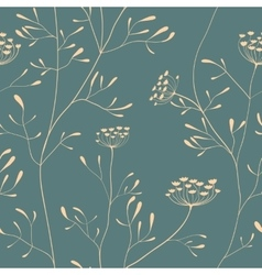 Cow parsnip seamless pattern vector image