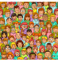 people pattern vector image vector image