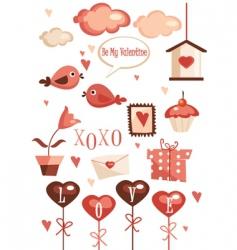 valentine elements vector image vector image