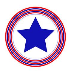 american symbol blue star rings simple vector image vector image