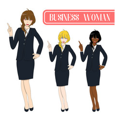 business woman pointing vector image vector image