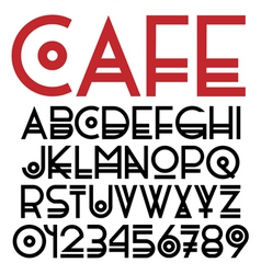 Original font and numbers vector image vector image