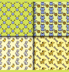 pet seamless pattern graphic domestic vector image