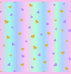 valentines day seamless pattern background with vector image vector image