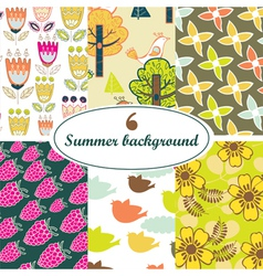 vintage patterns vector image