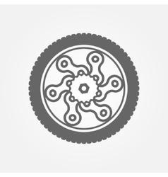 Wheel logo vector image