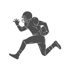 abstract american football player vector image