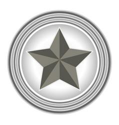 american symbol the star rings grey vector image