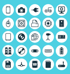 Hardware icons set collection of pc joystick vector
