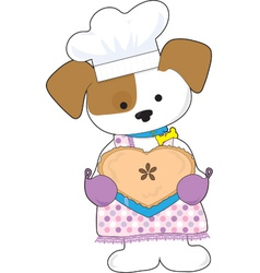 Puppy Love Pie vector image