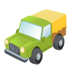 Toy Army truck vector image