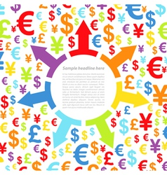 Abstract background with money vector image vector image