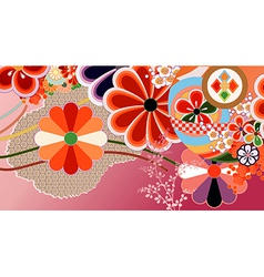 Japanese design elements vector image