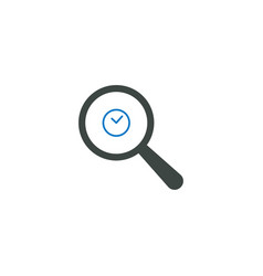 magnifying glass icon time icon vector image