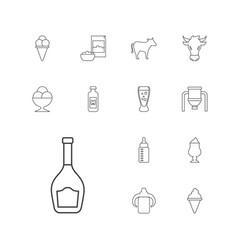 13 milk icons vector
