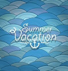 Abstract background of waves Summer vacation vector
