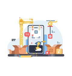 app development process vector image
